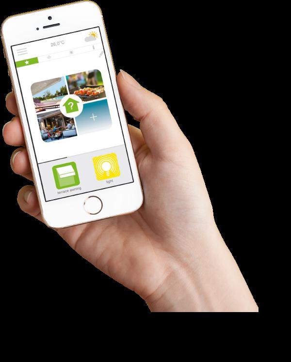 Toldos Porriño aplicación móvil Somfy